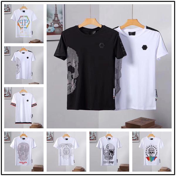 17 stil 2019 Sıcak Kafatası marka Alman Erkekler gömlek En İyi kalite İtalya high-end tasarımcı giyim şekli mükemmel Medusa T-shirt erkek Kısa kollu