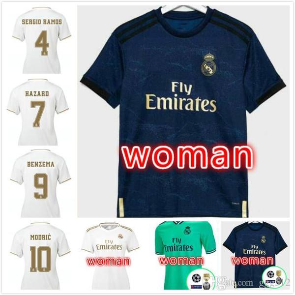 Top 19 20 MUJER Real Madrid del fútbol camisetas camiseta de fútbol ASENSIO MODRIC 2019 PELIGRO Jersey 2020 BENZEMA KROOS ISCO de Camisas de futebol