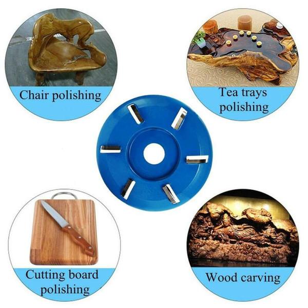 4 dientes de talla de madera del cortador de fresado Disco de fijación para la herramienta amoladora angular