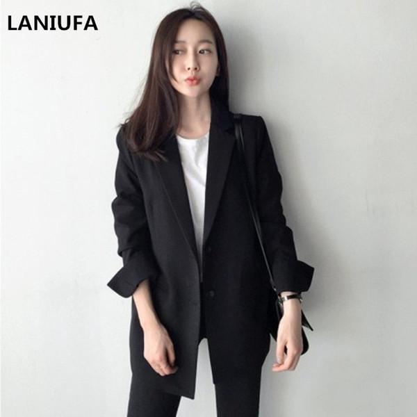 Sonbahar Kış Ince Blazers Kadın Takım Elbise Ceket Kadın Çalışma Ofisi Lady Suit Cepler Iş Çentikli Blazer Ceket Kadın Blazers