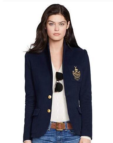 Winter Women Solid Polo Blazer Fashion