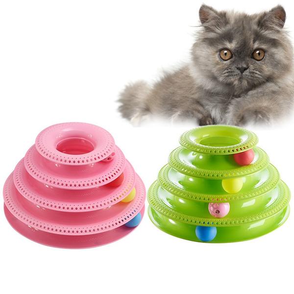 Trilha de gato louco bola plataforma giratória trilaminar pet filhote de cachorro gatinho engraçado disco interativo placa de diversões jogo jogando disco fornecimento