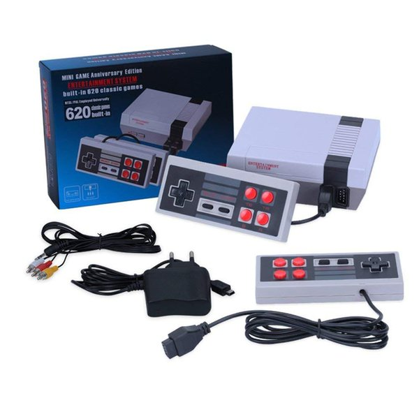 top popular Mini TV Game Player Can Store 620 500 Game Console Video Handheld for NES games Consoles with retail boxs 2020