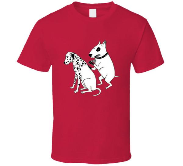 Chien Dalmatien Tatouage Bull Terrier Drôle T Shirt Tee Plusieurs Couleurs Cadeau Nouveau De NOUS harajuku Eté 2018 tshirt