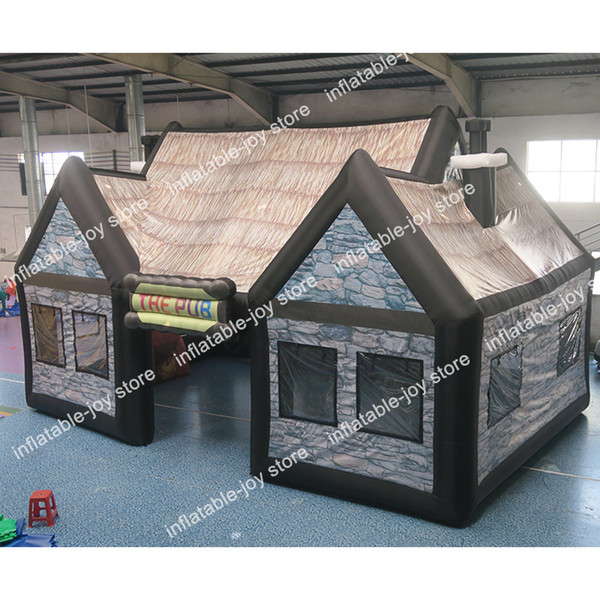 top popular HOT SALE Portable Inflatable Pub for Sale, Commercial Inflatable Bar Tent with Air blower, Inflatable party tents 2021