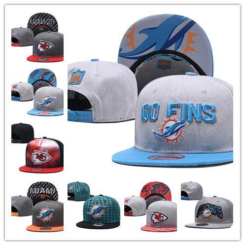 Nakış Şefi Yunuslar Tarihi 3D Logo Baycik 9 FIFTY Snapback Ayarlanabilir Şapka Spor Beyzbol Şapkası Kansas City Miami Futbol şapkaları