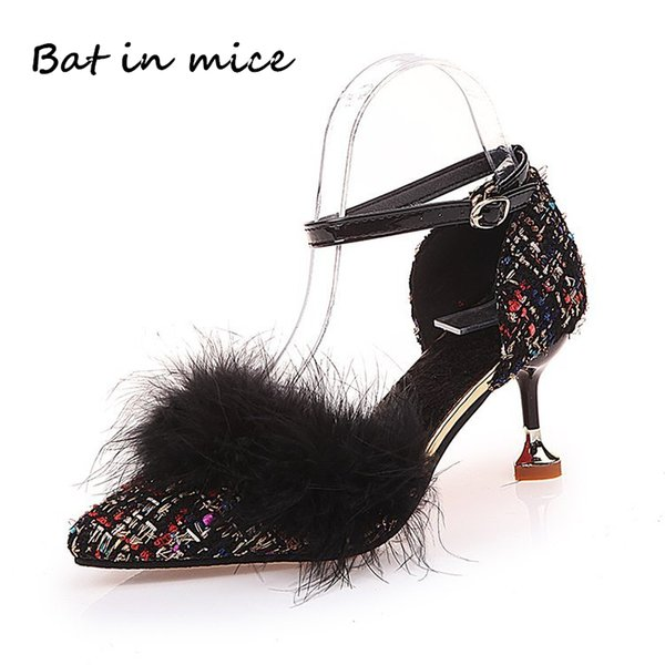 Designer Dress Shoes Big Size 2019 New Fashion women high heels women pumps thin heel classic sexy prom dress wedding women Mujer A156