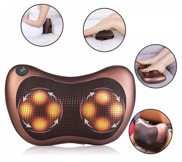 best selling US STOCK!Body Massager Pillow Electric Infrared Heating Kneading Neck Shoulder Back Body Massage Pillow Car Home Dual-use Massager FY0029