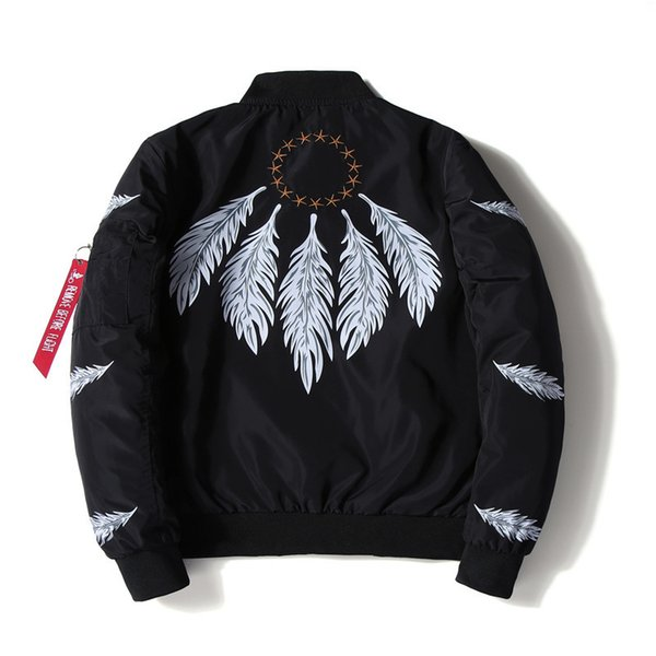Men's jacket Japanese thin printed large size ma1 bomber jacket Men's jacket casual coat mens varsity jackets styles for men windbreakers