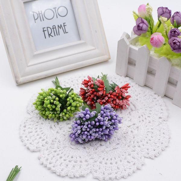 144pcs/lot 2.5cm Valentine Gift MIni Artificial Tea Bud Flowers Bouquet artificial flowers for wedding car decoration
