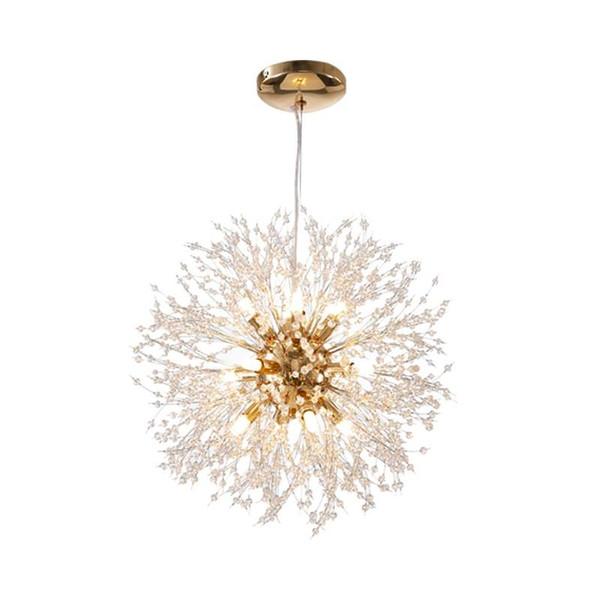 SETTEMBRE Dandelion Spherical Crystal Chandelier Moderno LED G9 110V-240V AC Restaurante Chandelier