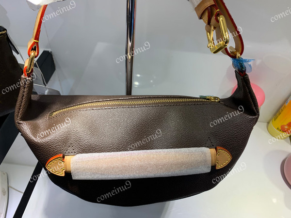 Maniglia multifunzionale 43644 del sacchetto del crossbody della vita delle donne del cuore del sacchetto di vita del cuoio genuino di alta qualità Trasporto libero