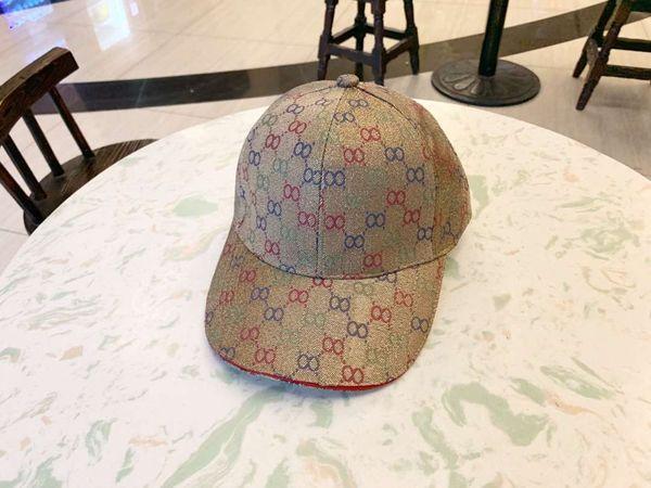 Logotipo completo Diseñador de moda Sombreros Gorras Hombre Mujer Gorra de béisbol Estilo geométrico de lujo Gorras ajustables Sombreros de alta calidad 4 colores Opcional