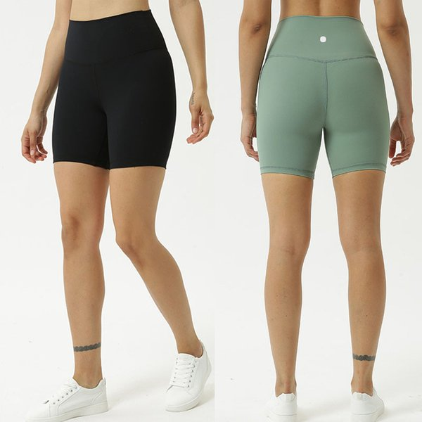 top popular Solid Color Women yoga pants High Waist Sports Gym Wear Leggings Elastic Fitness Lady Overall Full Tights Workout Fitness Shorts L-023 2020