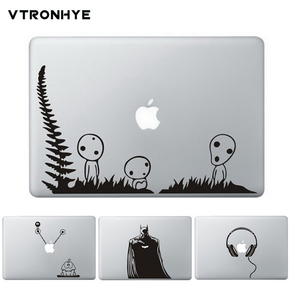 """Funny Partial Laptop Sticker For Macbook Pro Air 13 11 Inch Retina 13 15.4"""" Wolf Print Vinyl Decal Laptop Skin Cover For Macbook T6190615"""