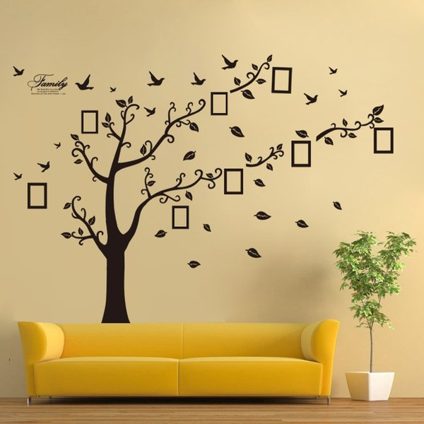 Family Tree Wall Art Picture Frame.Family Tree Wall Decal Butterflies And Birds Vinyl Wall Art Photo Frame Tree Stickers Living Room Home Decor Wall Sticker Stickers For Walls In
