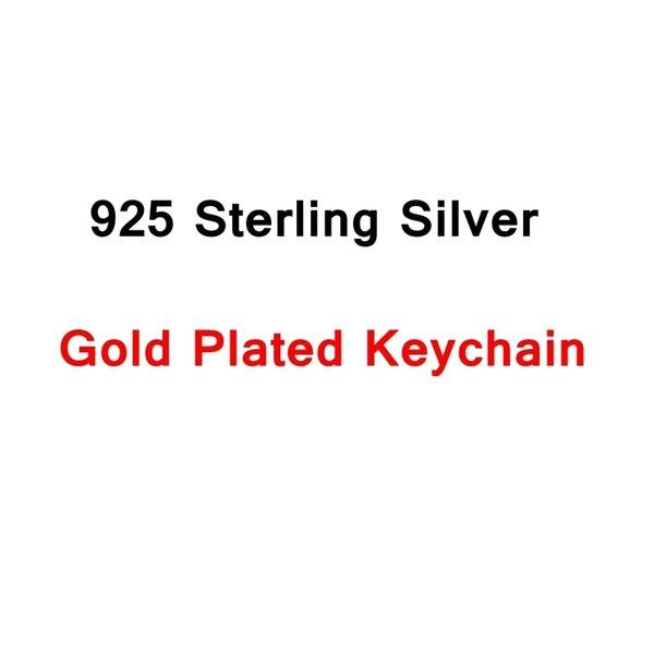 Silber Schlüsselanhänger Gold