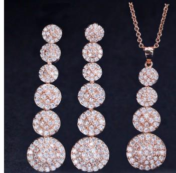wonderful low price high quality more letters diamond crystal stone bride wedding jewelry set necklace earings (43ere)