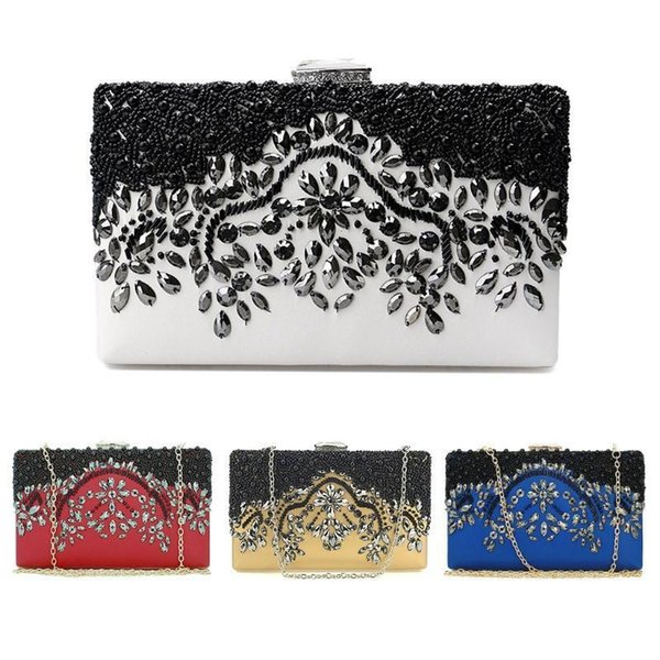 Nice New Fashion Women Bead Bridal Evening Clutch Bag Party Wedding Prom Wallet Purse Handmade Purses And Wallets