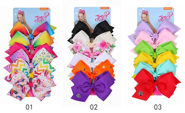 6pcs Lot New Baby Bow Clips de Cheveux Ensemble