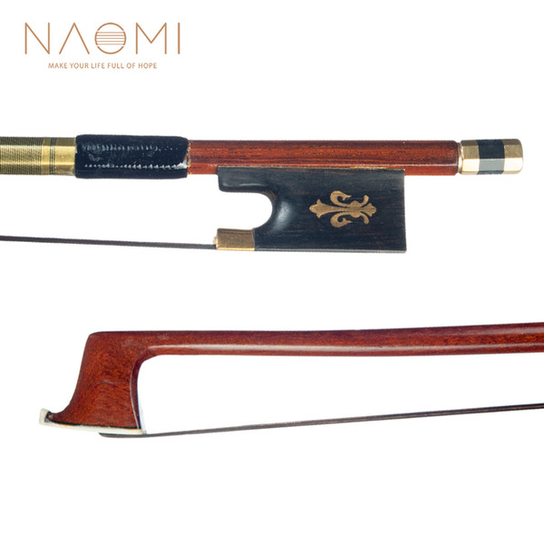 NAOMI IPE Violin Bow Ebony Frog Bow For 4/4 Full Size Violin W/ Black Horsehair High Quality Violin Bow Parts Accessories New