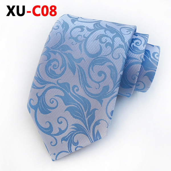 2018 New Neck Tie for Man Silk Formal Dress Tie Paisley Flower Ties Gifts for Men