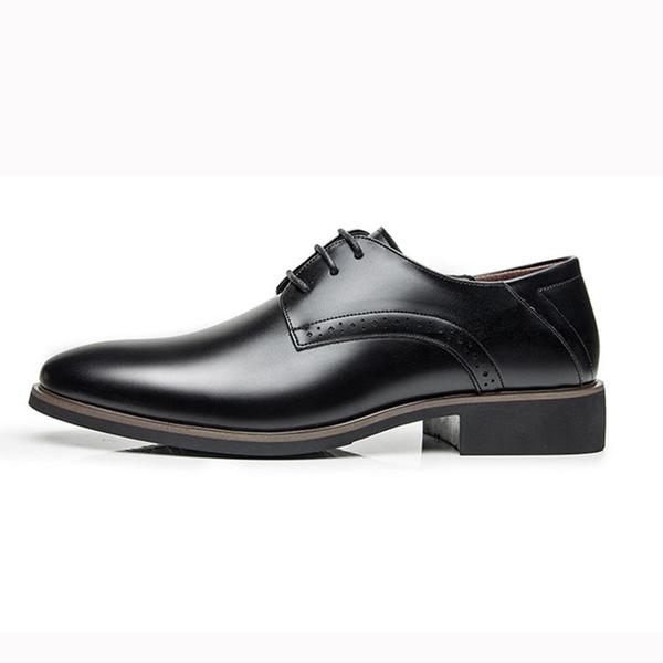 Hombres elegantes hombres zapatos de cuero de primavera alta calidad cómoda moda de lujo para hombre vestido zapatos # MS8116126