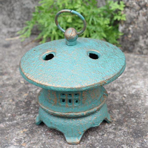 Vintage Candle Lantern Cast Iron Hanging Candle Holder Antique Green Garden Tealight Holder Outdoor Yard lanterns Decoration Gardening Craft