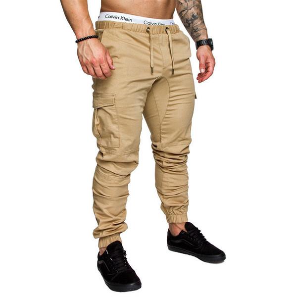 2019 Brand Men's Pants Hip Hop Harem Joggers Pants Male Trousers Men Joggers Solid Multi-pocket Pants Elastic Waist Sweatpants