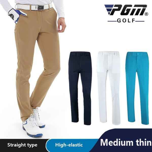Modelli Primavera Estate PGM Pantaloni da golf professionali da uomo Pantaloni impermeabili Pantaloni sportivi da calcio di marca Tessuti importati Tipo dritto