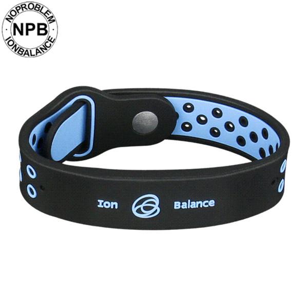 Noproblem New arrivals power fitness sports silicone ions balance tourmaline germanium men charms bracelet wholesale