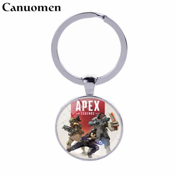 Canuomen Apex Legends Keychain Hot Game Schlüsselanhänger Handgefertigte Glas Cabochon Schlüsselanhänger Geschenk Souvenirs für Jungen Autohalter