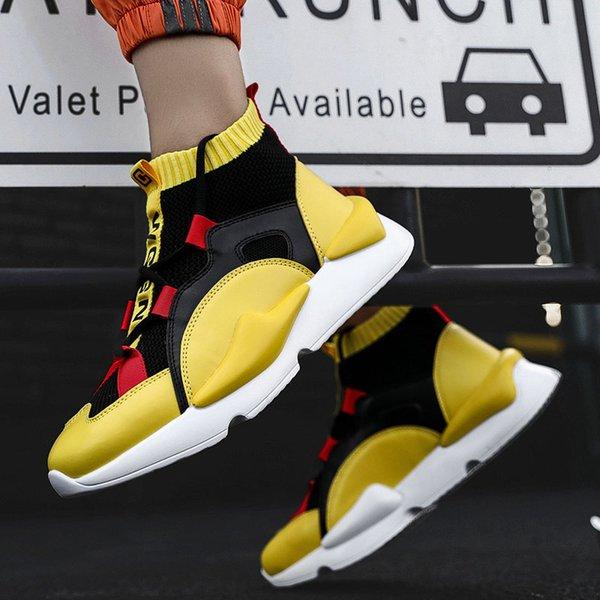 men boots yellow