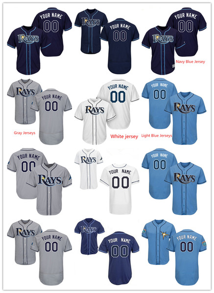 uk availability bbf66 296ae 2019 Customized Baseball Jerseys Mens Women Youth Tampa Bay Rays Jersey  Kevin Kiermaier Any Name Number Wade Boggs From Jerseyhome99, $39.4 | ...