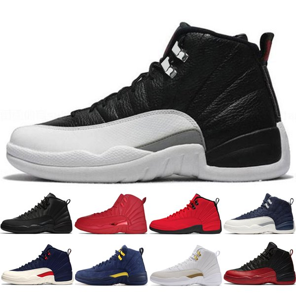 12s Winterized WNTR Gym Red Michigan Mens Basketball Shoes The Master Flu Game Taxi NYC French Blue 12 men sports sneakers designer