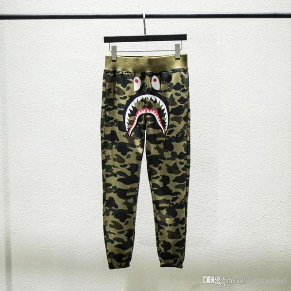 Autumn Winter New Lover Print Camo Long Pants Trousers Men Women 5 Colors Cotton Casual Pants