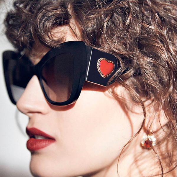 Mode Cat Eye Sonnenbrille Frauen Übergröße Fett Luxus Damen Sonnenbrille Weibliche Shades marca lujo gafas lunette femme de marque