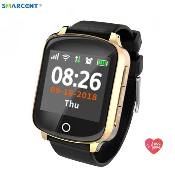 Reloj inteligente D200 Wifi Tracker GPS de localización de Ancianos Mujeres Hombres SmartWatch con SOS Llamada del ritmo cardíaco de la presión arterial D100 pk