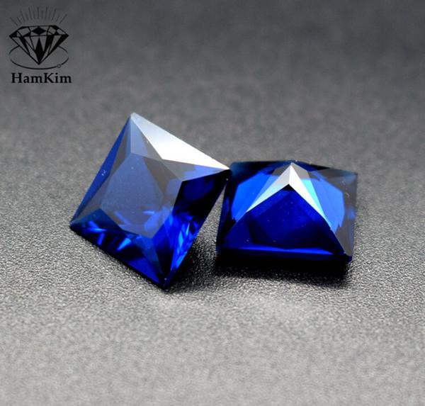 Taille 2-5mm 20pcs Carré cristal de pierre bleue Chakra Pyramid Pierre Set Cristal Guérison Chakra Ensemble ou fabrication de bijoux DIY A40