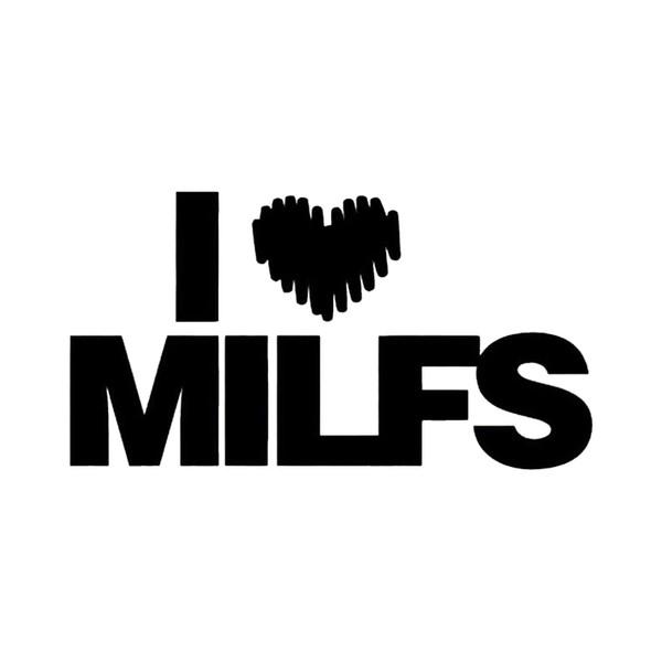 15*8cm Funny Sticker I Love Milfs JDM Vinyl Decal Fashion Personality Creativity Classic Car Sticker For Car Truck Window
