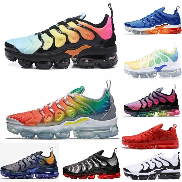 2019 New Fashion TN Plus Running Shoes Rainbow BETRUE Smokey Mauve Game Royal Grape Fades Blue mens shoes women designer sports shoes 36-45
