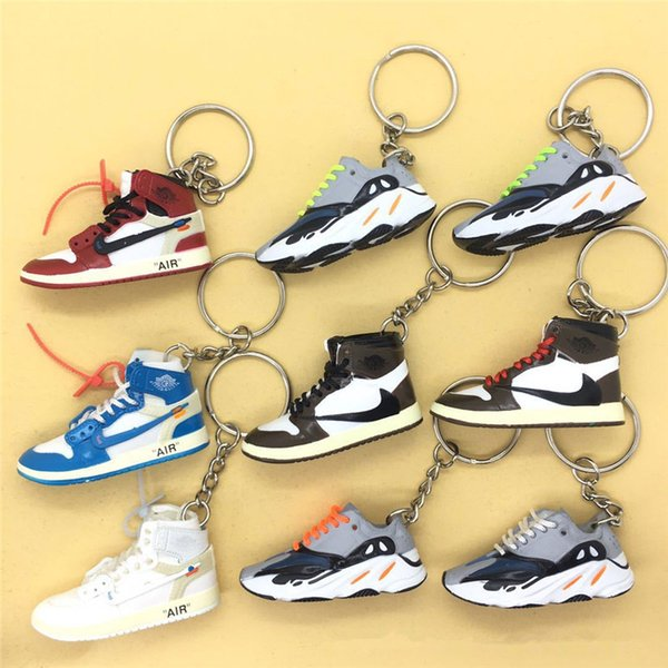 3D Sneaker Shoes Keychains Joint Co-branded Sports Key Chains Concessions Accessories For Bags Cell Phone Straps Backpack 14 Styles