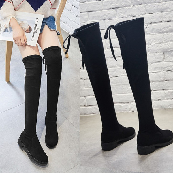 Winter new over the knee thigh-high boots women fashion wool sock stretch boots stars lady winter high quality shoes