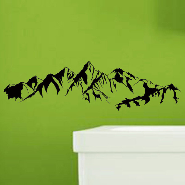 Chinese Style Black Mountain Outline Wall Stickers Home Decor Wall Decals Bedroom Living Room Wallpaper Vinyl Carved Art Mural