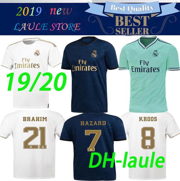 S-3XL 2019 maillot de football du Real Madrid 19 2020 maillots de real madrid BENZEMA SERGIO RAMOS KROOS DANGER MeSSI DANGER 19/20 maillots de football maillot