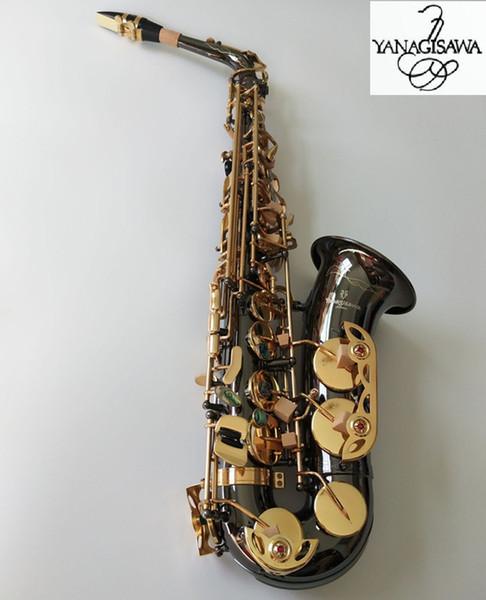 Yanagisawa a-992 alta qualidade marca new alto saxofone eb tune chave de ouro profissional sax bucal com caso grátis