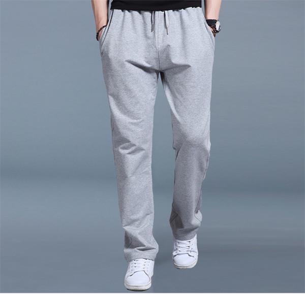 Solid Color Waist Sashes Fashion Sport Pants Mid Waist Designer Loose Drawstring Pencil Pants Mens Trousers