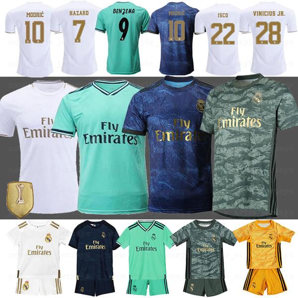 Реал Мадрид футбол Джерси 19 20 ОПАСНОСТИ Jovic MILITAO Camiseta де fútbol 8 Кроос 9 Бензема Jovic Серхио Рамос Джерси