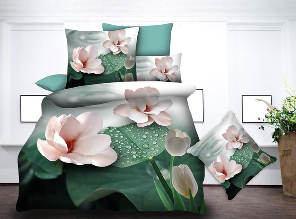 BEST.WENSD Luxury bedding Korean style flower bed sets bedsheets super soft ultra soft duvet cover king housse de couette beds