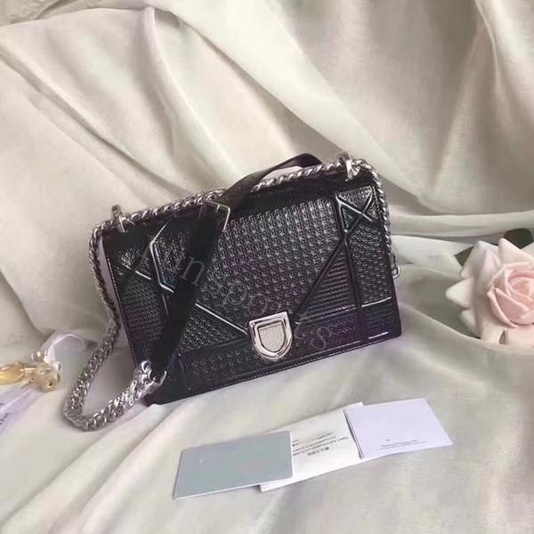 Sıcak cchristian lüks cd d tasarımcı mettalic crossbody çanta kadın hakiki deri çanta eğik alışveriş torbaları haberci çantası etiketleri